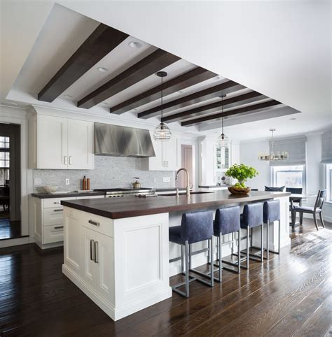 coffered kitchen ceilings kitchen transitional with tray