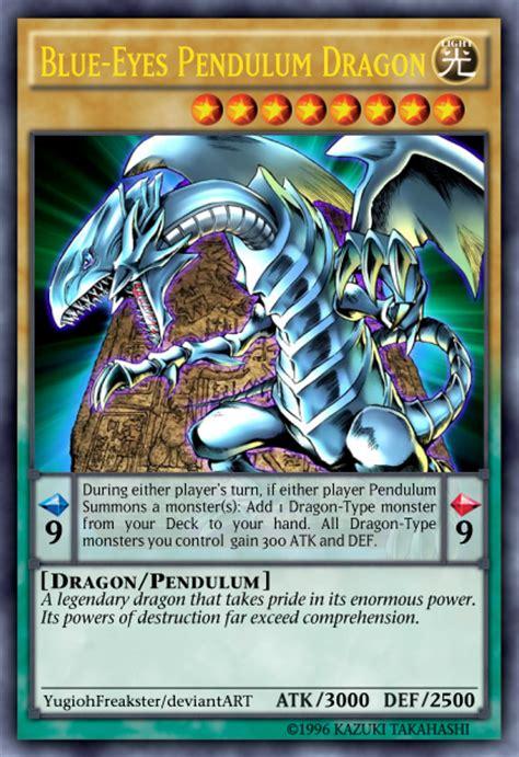 blue eyes pendulum dragon by yugiohfreakster on deviantart
