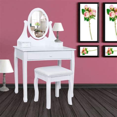 tabouret pour coiffeuse chambre coiffeuse table de maquillage en bois avec miroir et