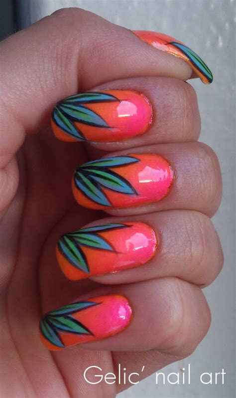 tropical nail designs gelic nail tropical nail