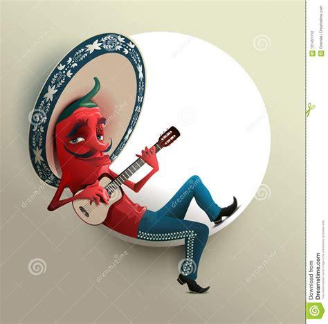 Chili Pepper In Mexican Sombrero Vector Illustration