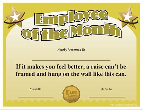 Employee Of The Month Certificate Template by Employee Of The Month Certificate Template Images