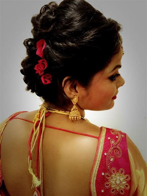 pin  swank studio  indian bridal hairstyles