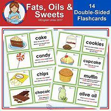 Flashcards  Fats, Oils And Sweets  English Unite English Unite