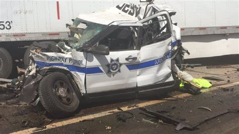 Semi-truck Crashes Into Fire Truck, Dps Vehicle, And