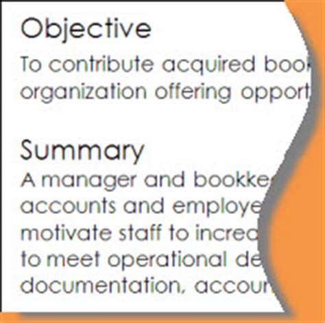 Do You Need An Objective And Summary On Your Resume by Resume Writing Objectives Summaries Or Professional Profiles