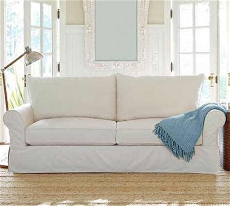 pottery barn loveseat slipcovers creative home expressions hooked on white slipcovers