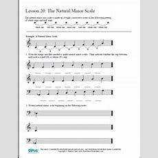 Music Theory Worksheet 20 The Natural Minor Scale  Music Class Resources  Music Theory