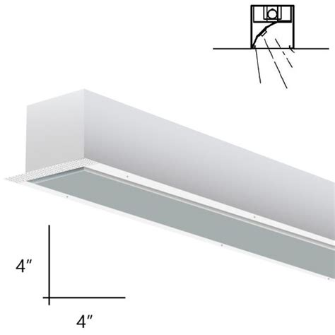 alcon lighting 14008 8 rww planor 44 architectural led 8 foot linear recessed mount wall wash