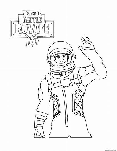 Fortnite Coloring Battle Royale Character Pages Astronaut