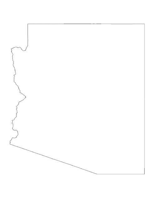 arizona map template   templates   word