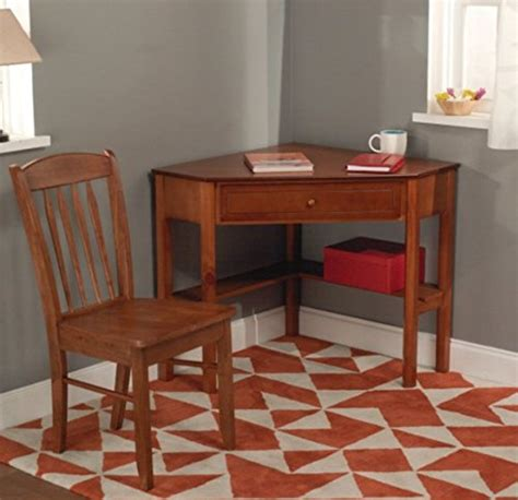 classically styled desk utilizes  small space