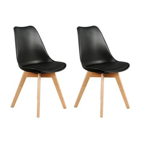 lot chaise pas cher lot de 2 chaises design scandinaves pas cher pieds en bois