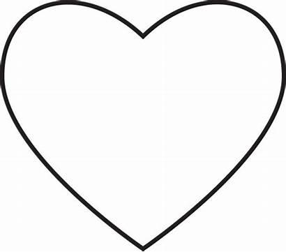 Heart Coloring Pages Templates Shape Valentines Applique