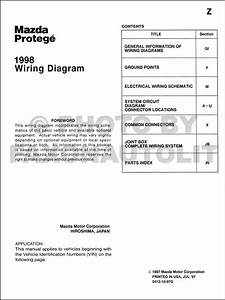 1998 Mazda Protege Wiring Diagram Manual Original