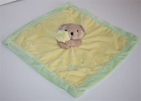 Carters Just One Year Cute As Can Bee Bear Yellow Security Blanket Soft Toy 16
