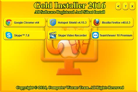 gold software installer 2016 free computer worms team