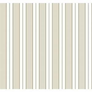 The Wallpaper Company 56 sq. ft. Black and White Stripe ...