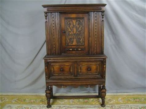 Vintage Bernhardt China Cabinet by Antique Bernhardt Jacobean Tudor Oak China Cabinet Carv