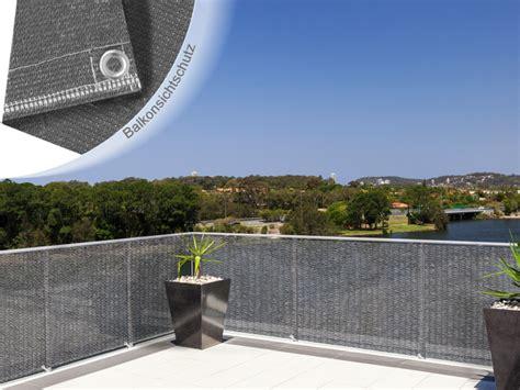 sichtschutz balkon grau balkonsichtschutz einfarbig grau
