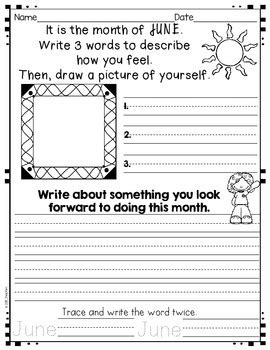 writing activities   june july  augustgrade