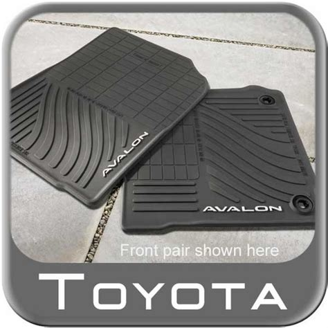 Toyota Avalon Floor Mats by 2013 2015 Toyota Avalon Floor Mats Rubber All Weather 4