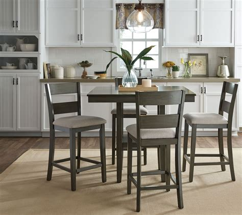 loft weathered grey  piece counter height dining room set