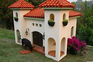 Extreme dog houses make owners jealous photos kaf mobile for 2 story dog house for sale