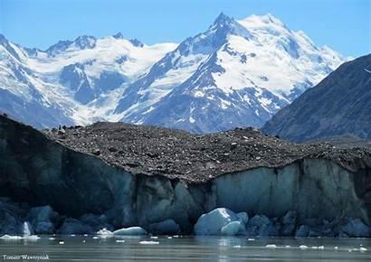 Debris Supraglacial Alps Southern Morena Nowa Zelandia