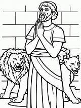 Coloring Daniel Lions Den Lion Bible Profeta God Sunday Crafts Colorear Leones Story Pray Dibujos Printable Children Preschool Biblia Praying sketch template