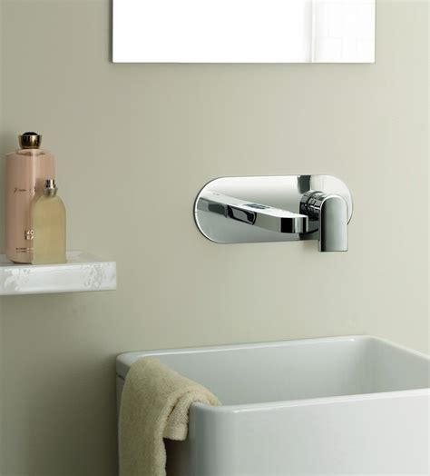 wall mounted kitchen sink faucets wall mount faucet with modern shape and design traba homes 8878