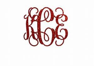 glitter monogram iron on decal custom iron on letters iron With iron on monogram letters
