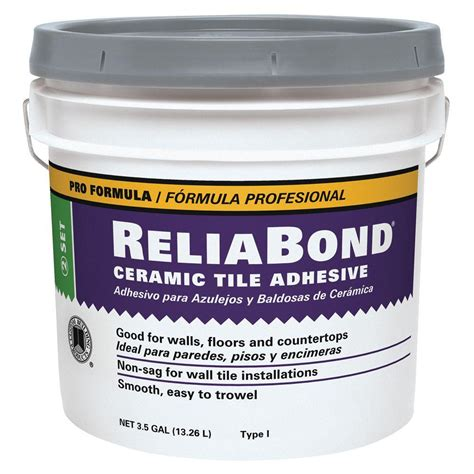 custom building products reliabond 3 5 gal ceramic tile