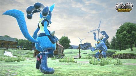 Pokemon Fighting Game Machamp Versus Lucario Pokemon