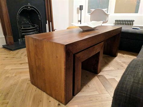 Mango wood doesn't just make for a fantastic dining table but for stylish and functional coffee and end tables as well. Next solid mango wood coffee table nest   in Southside, Glasgow   Gumtree