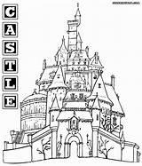 Castle Coloring Pages Colorings Castle7 sketch template