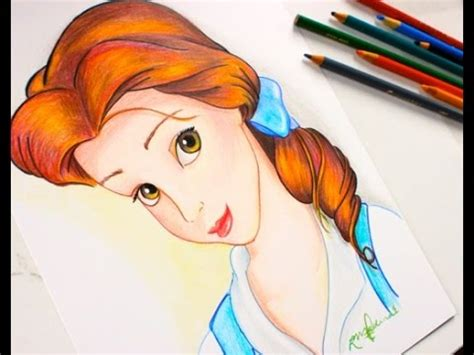 drawing princess belle beauty   beast budget