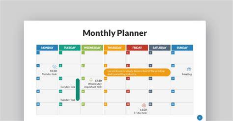 powerpoint calendar template  designs