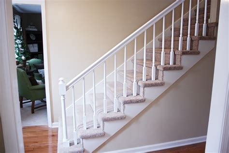 painting a banister white how to paint stairway railings bower power