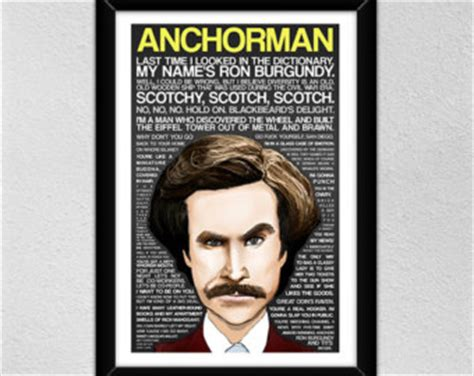 Anchorman I L by Will Ferrell Etsy