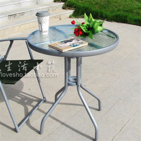 glass small table small table outdoor occasional