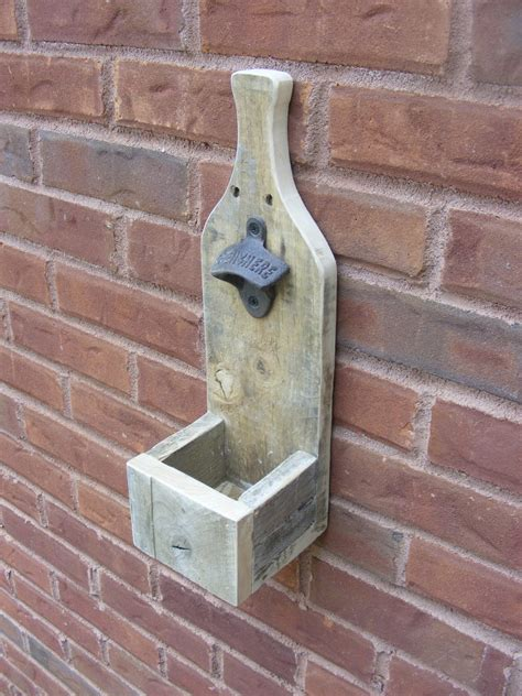 bottle opener  pallet wood shanty  chic