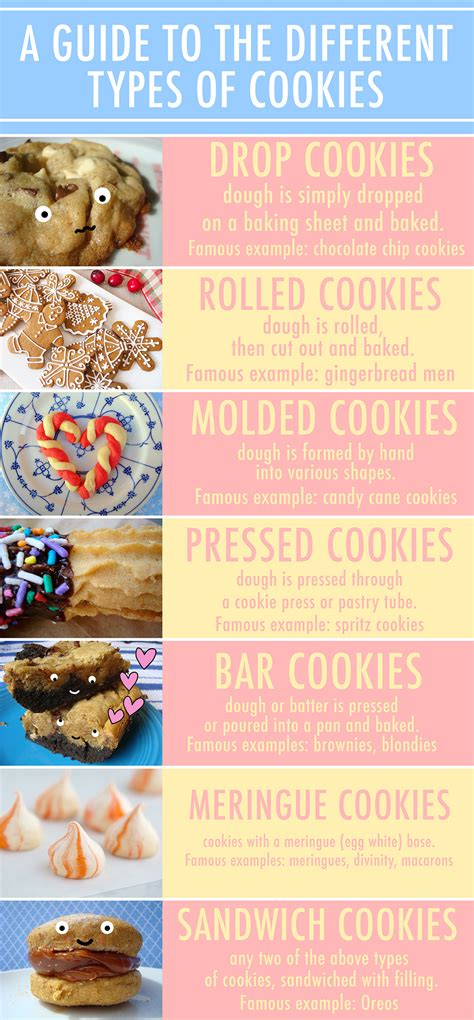 Different Types Of by A Visual Guide To Different Types Of Cookies Infograph