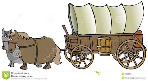 covered wagon royalty  stock photo image
