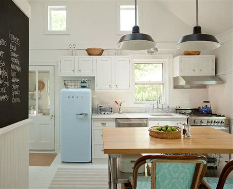 Smeg Refrigerator   Cottage   kitchen   Jenny Wolf Interiors