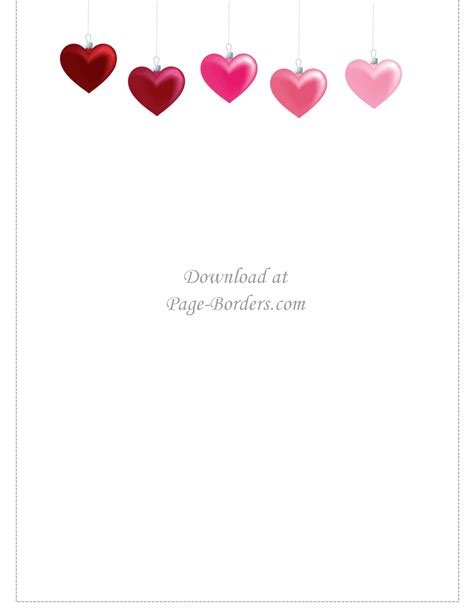 Little birdie blessings homemade gift guru in answer to christa's question: Free Printable Heart Border | Customize online or download ...