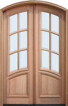 8 Foot Tall, Mahogany Tiffany Arch Top Double Wood Entry
