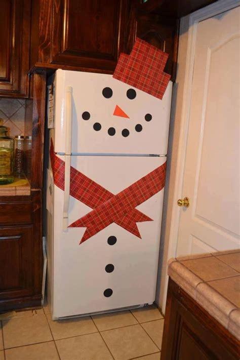 snowman decorate refrigerator christmas para decorating door nieve fridge decorations decor decoration easy paper construction bedroom navidad muneco munecos puerta