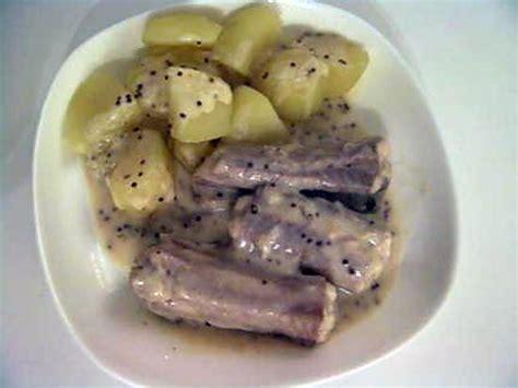 cuisiner la roussette recette de roussette à la moutarde à l 39 ancienne