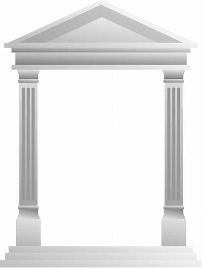 Roman Clipart Frame Greek Blank Temple Architecture